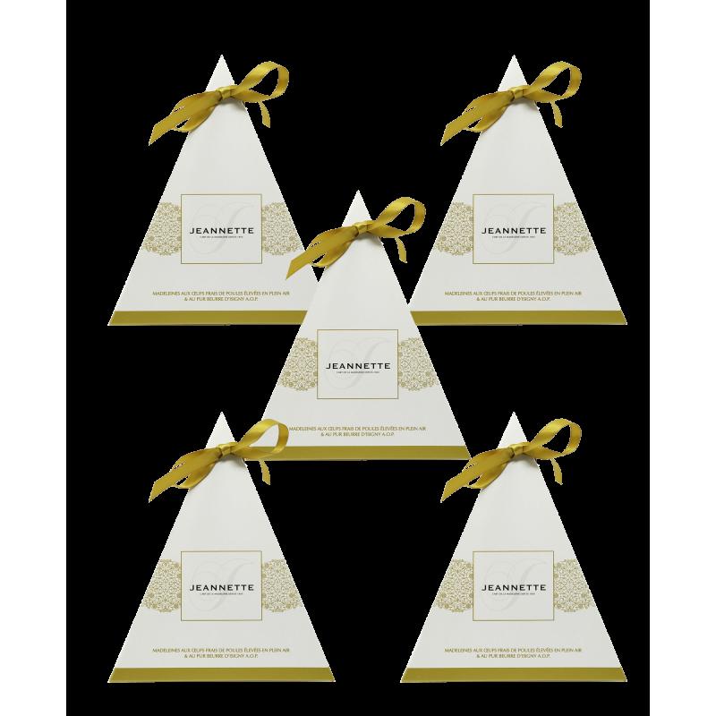 Pack 5 pyramides dorées